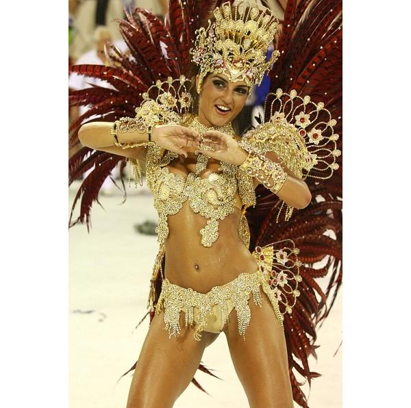 Há nove anos consecutivos no posto de rainha, a Garota da Ilha é uma das musas mais longevas nesta função em uma escola de samba. Ao contrário de outras coroadas, a empresária opta por fantasias mais comportadas, que mostram menos o corpo, o que fez com q<br>