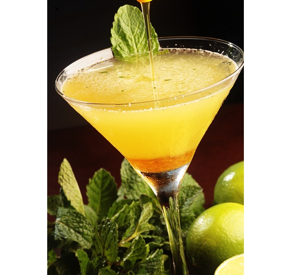 Delicioso drinque à base de mel e limão, uma criação do barman Santiago. Bar da Praia, Rua João Lira, 5, Hotel Marina Palace, Leblon, tel. 2172-1067.<br>