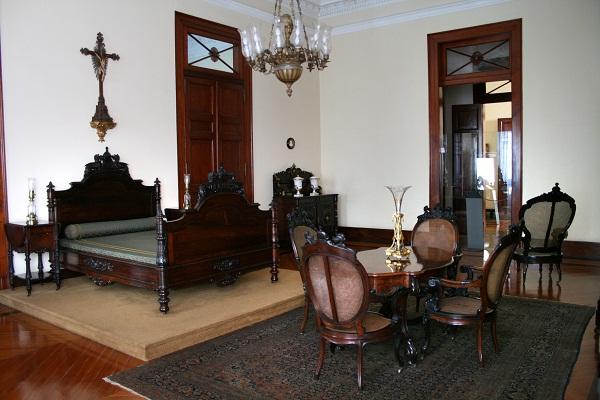 O antigo quarto de D. Pedro II<br>