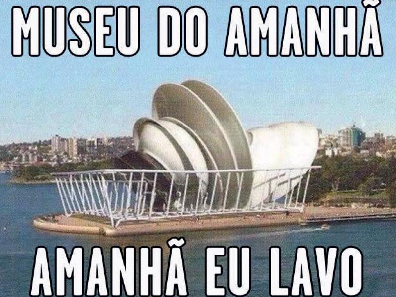 museu do amanhã Uma das obras mais aguardadas do pacote olímpico foi inaugurada em dezembro, mas nem mesmo as belas formas de Santiago Calatrava foram poupadas pelos internautas
