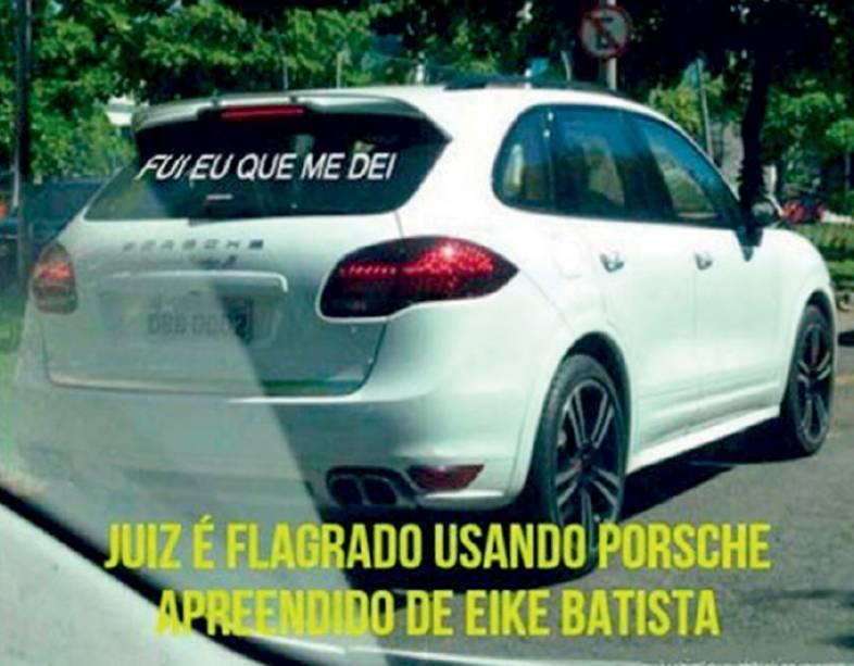 Depois de confiscar os bens do ex-bilionário Eike Batista, o juiz Flávio Roberto de Souza foi flagrado dirigindo o Porsche Cayenne do empresário e afastado