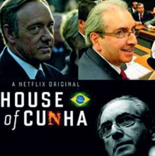O deputado carioca e presidente da Câmara — Eduardo Cunha tornou-se alvo preferencial dos piadistas — chegou a ser comparado ao maquiavélico Frank Underwood, personagem principal da série política americana House of Cards