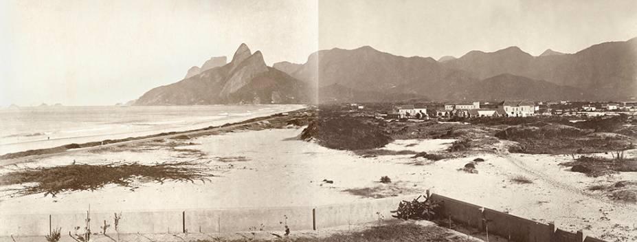 Praia de Ipanema, por José Baptista Barreira Vianna (c. 1900). Família tradicional da Tijuca, os Barreira Vianna compraram uma casa em Ipanema, na altura de onde hoje é a Rua Francisco Otaviano. Na imagem, o bairro ainda é um grande areal