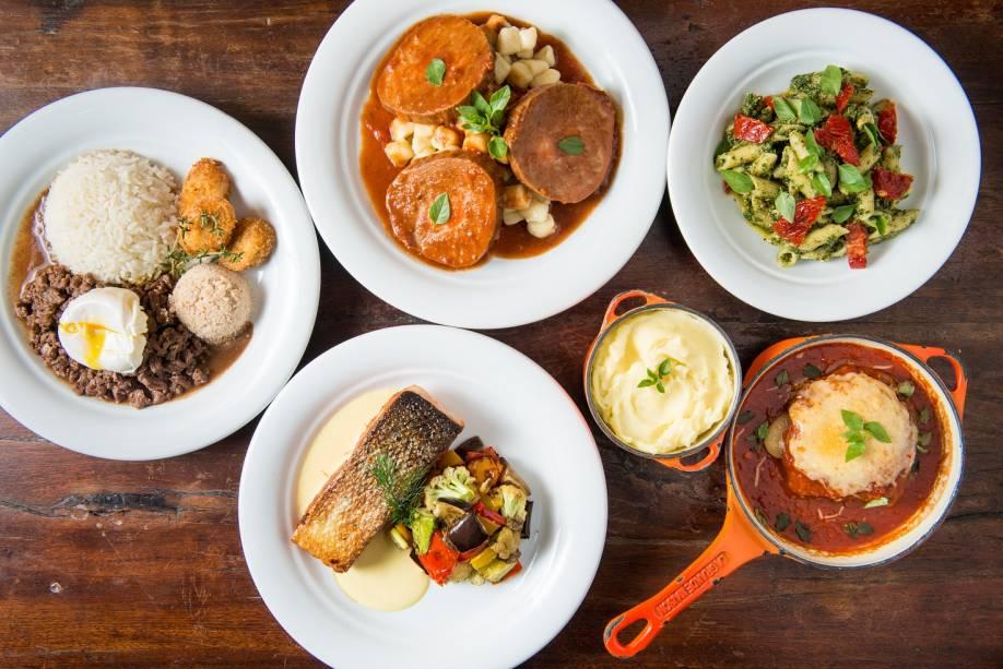 Em conta: menu oferece pratos a preços entre 25 e 43 reais