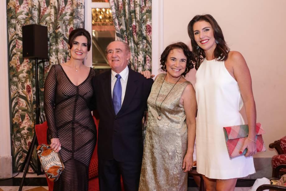 Fátima Bernardes, Renato Aragão, Regina Duarte e Glenda Kozlowski