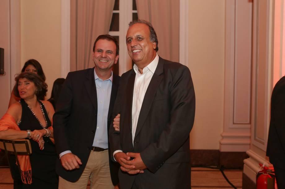O prefeito Eduardo Paes e o governador Luiz Fernando Pezão