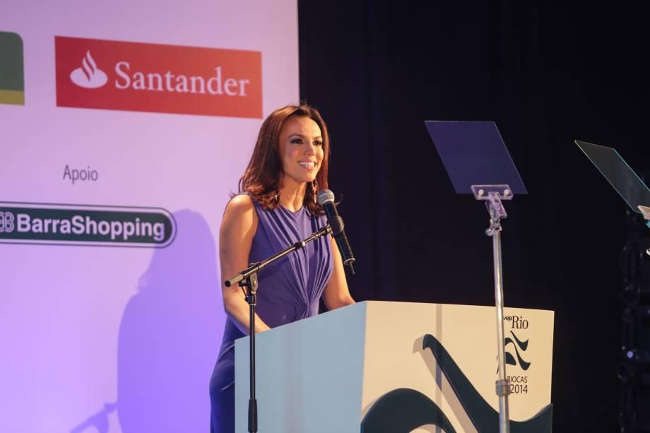 A jornalista Ana Paula Araújo foi a apresentadora do prêmio