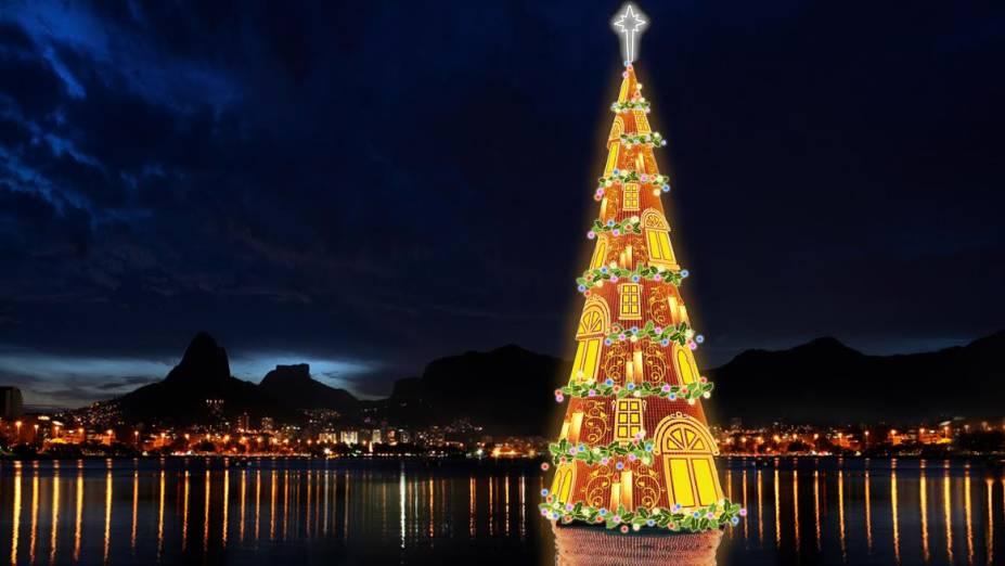Com 85 metros de altura, a árvore pesa 542 toneladas