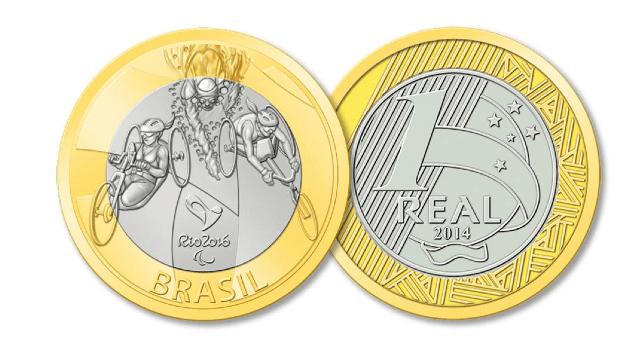 Moedas comemorativas dos Jogos Rio 2016