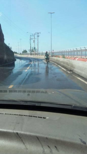 Parte da ciclovia que desabou: em frente ao Castelinho