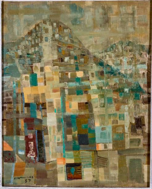 Favela (1957): óleo sobre tela, de Candido Portinari