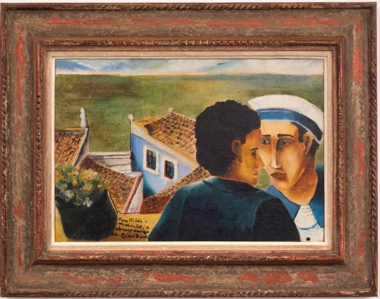Marinheiro (década de 30): óleo sobre tela, de Cícero Dias