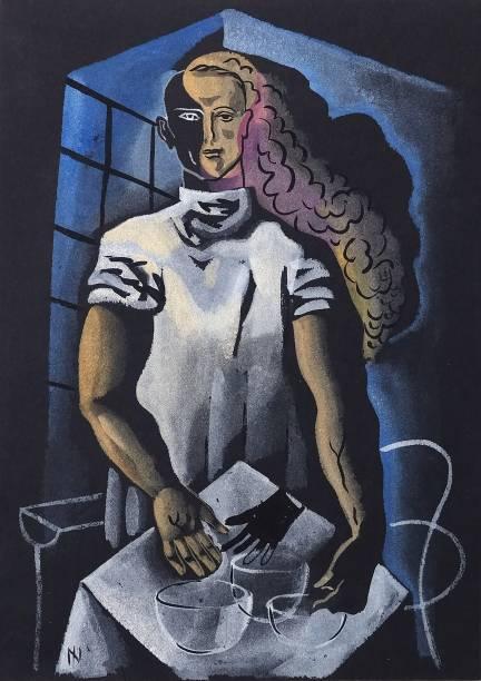 O Cirurgião (década de 20): guache sobre cartão preto, de Ismael Nery
