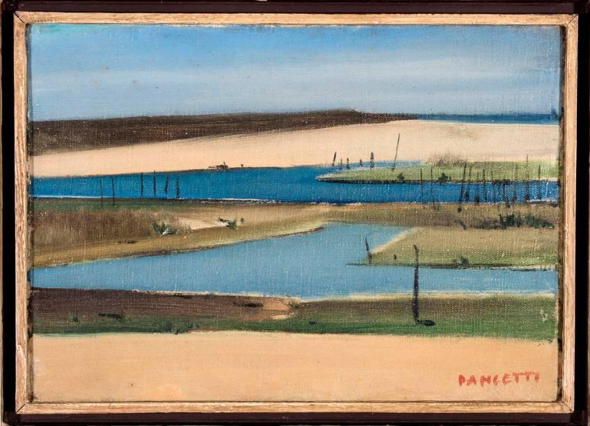 Saquarema (1955): óleo sobre tela, de José Pancetti