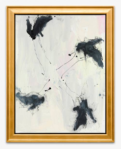 Something Turns and Makes Music (2015): óleo sobre tela, de Georg Baselitz, da galeria White Cube