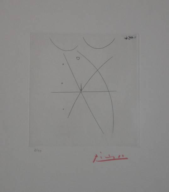 Gravura sem título de 1956: de Pablo Picasso