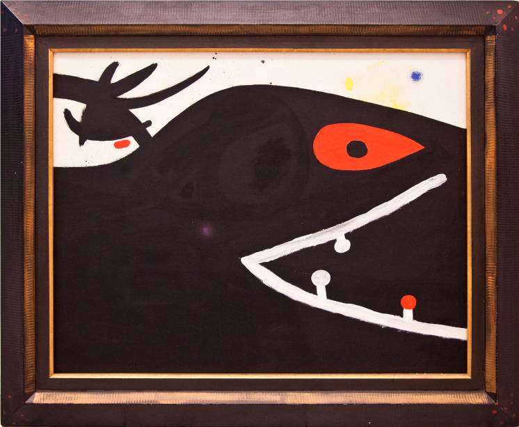 Tête (1974): óleo sobre tela, de Joan Miró