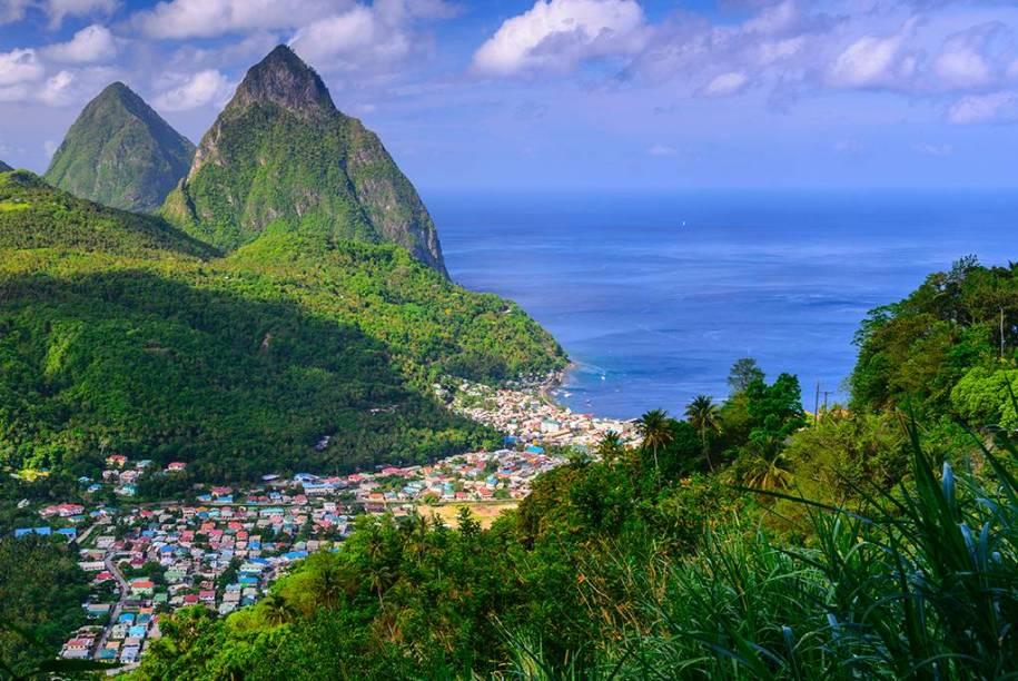 Localizada no Caribe, a ilha de Santa Lúcia tem encantadores mercados populares e uma identidade marcante