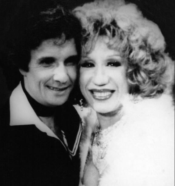 Com Roberto Carlos no show do Rei nos anos 80,
