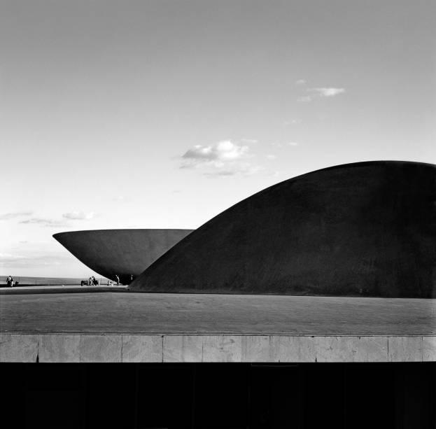 Palácio do Congresso Nacional, Brasília, c. 1960: foto de Marcel Gautherot