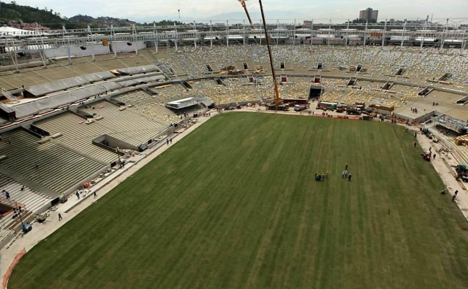 Obras do estádio estão em processo de conclusão.<br>