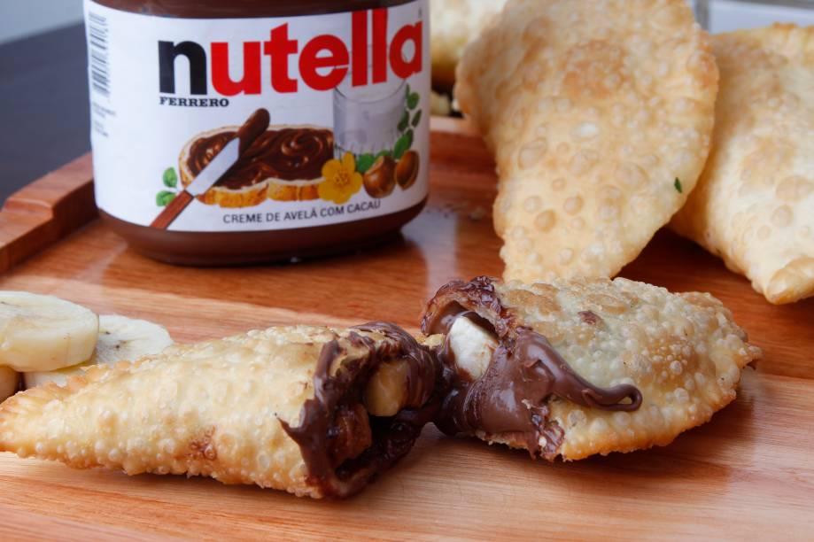 Pastel de Banana com Nutella do Bar do Adão