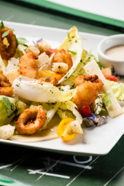 Versão de do chef Pascal Jolly: com frutos do mar