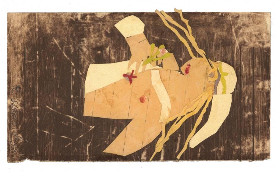 Desenho de Erika Stránská, morta no campo de concentração de Auschwitz, em exposição no Museu Histórico Nacional