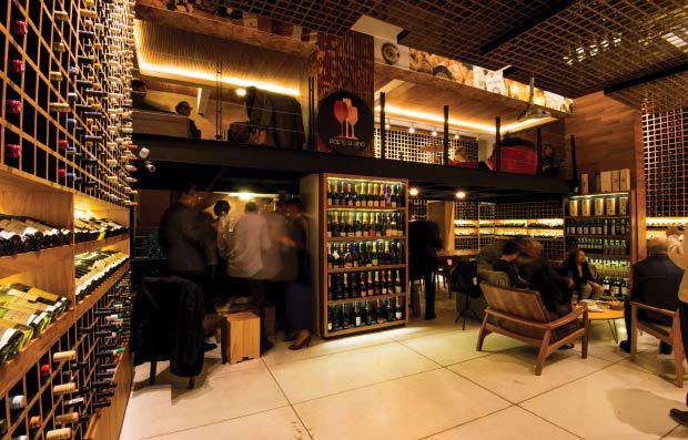 Porto di Vino: misto de loja e winebar com carta caprichada