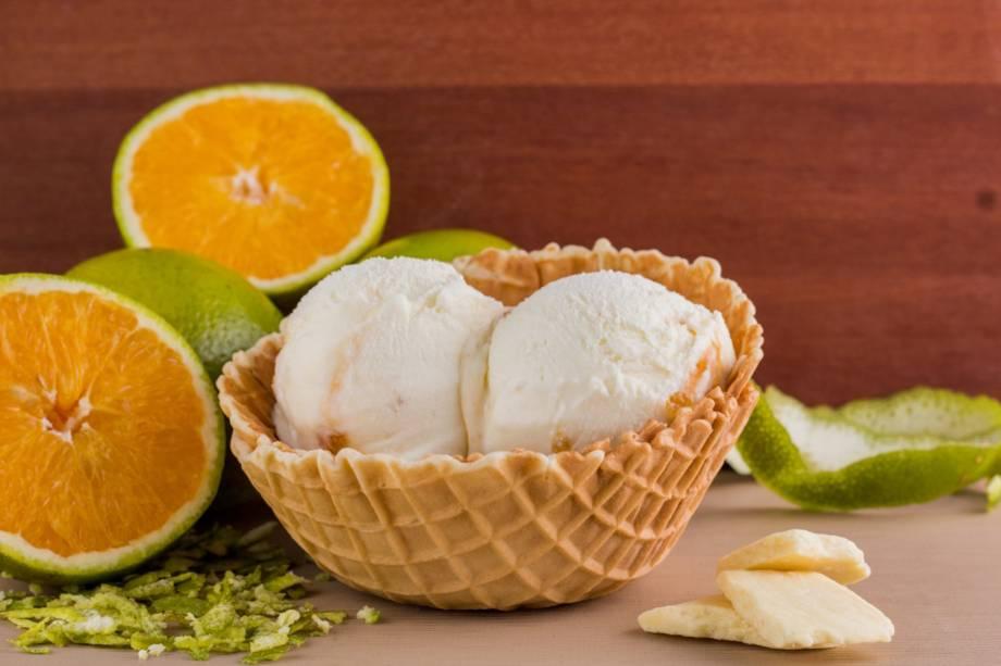 Chocolate branco com laranja