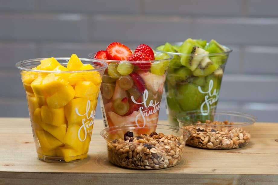 Saladas de frutas variadas