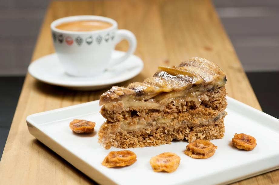 Torta de banana: companhia para o café da Fazenda Camocim, no Espírito Santo