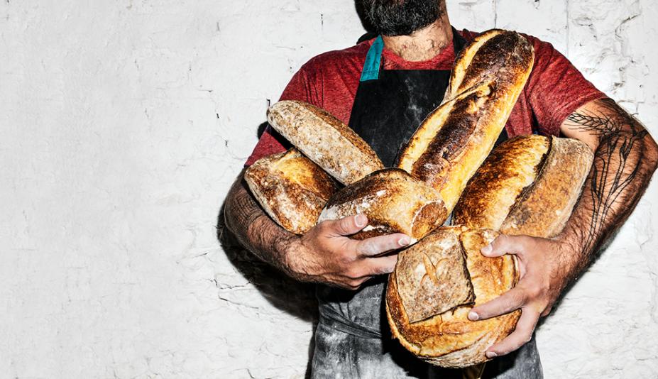 Sem pressa: deliciosos, os pães de fermentação natural feitos na casa descansam por até 48 horas antes de ir ao forno