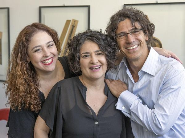 Debora Lamm, Inez Viana e Leonardo Bricio (crédito: Victor Haim)