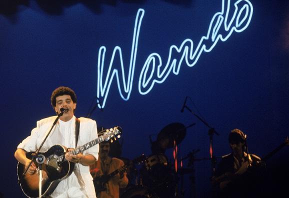 Nos anos 80, Wando alcançou o auge de sua carreira. Foram lançados nesse período quatro discos em que ele investiu na imagem de cantor romântico e sedutor. O maior hit, Fogo e paixão,chegou às paradas em 1988, com o disco O mundo romântico de Wando. No to<br>