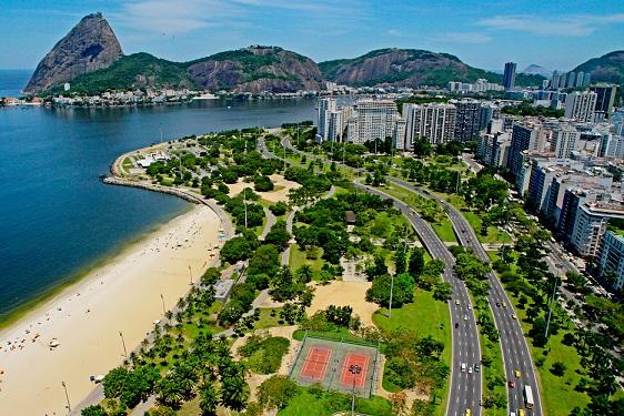 Aterro do Flamengo visto de cima