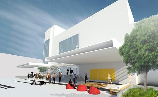 A fachada do novo Imperator, que deve ser inaugurado em junho<br>
