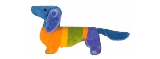 Este é o cãozinho Waldi, das Olimpíadas na Alemanha<br>