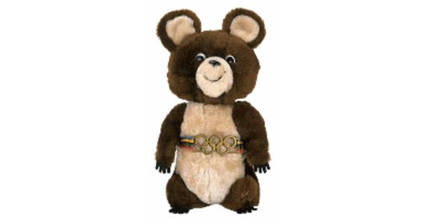 Misha, o urso mascote das Olimpíadas na Rússia, tinha o nome completo de Mikhail Potapych Toptygin<br>