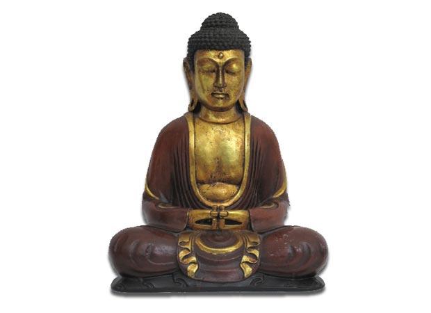 Na loja da Zona Oeste, o Buda de resina com 30 centímetros de altura está a venda por R$ 190,00<br>