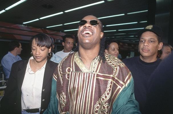 Desembarcando no Aeroporto do Galeão em 1995 para o Free Jazz Festival<br>