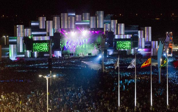 Festival recebeu 100 000 pessoas por dia em seus 150 000 metros quadrados<br>