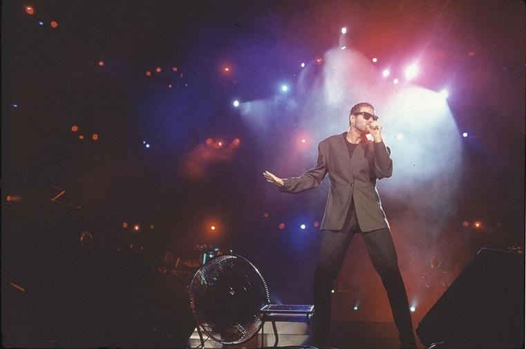 Show do cantor pop britânico George Michael<br>
