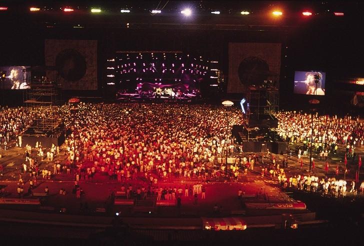 Multidão no show do Djavan<br>