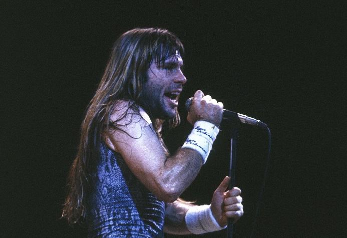 O vocalista do Iron Maden, Bruce Dickinson<br>