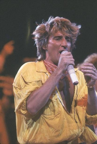 O show de Rod Stewart foi tido na época como um dos melhores do festival<br>