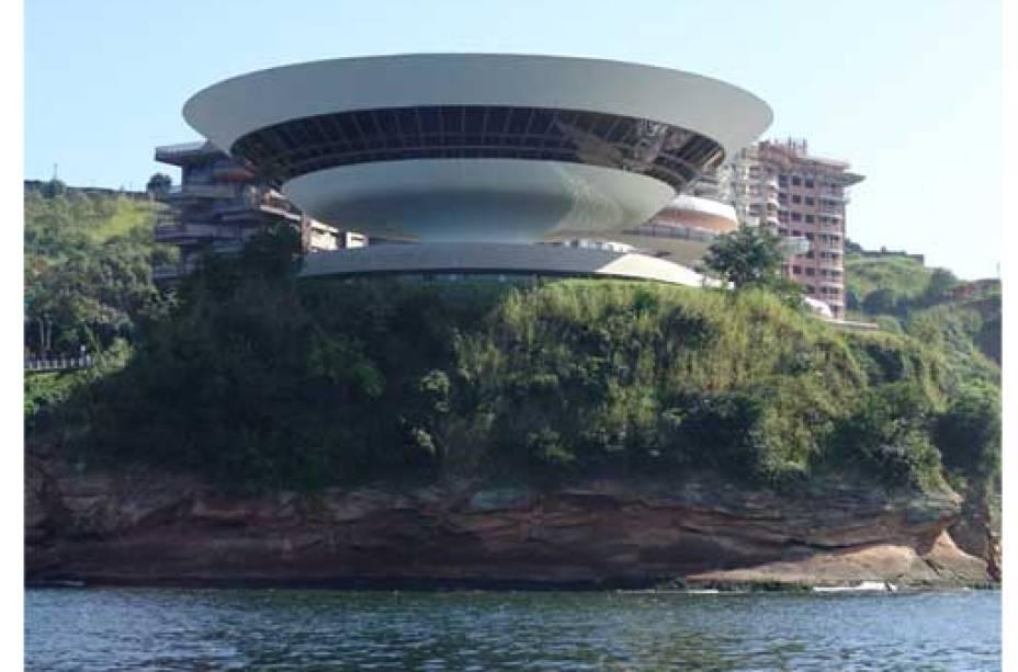 Em Niterói, o Museu de Arte Contemporânea complementa a bela paisagem natural<br>