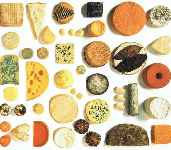 A França é também conhecida como terra dos mil queijos. Hoje, no entanto, já são mais de dois mil tipos<br>