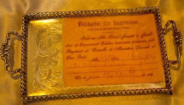 Disputadíssimo, foi distribuído apenas para a alta sociedade carioca no banquete promovido pela família imperial<br>