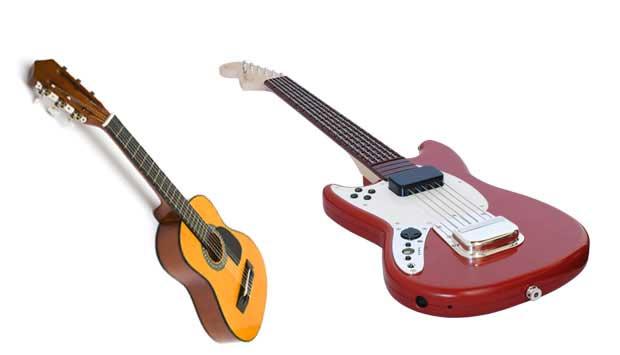 Gosta de música? Toque um instrumento, mesmo que for aqueles violões de madeira! Isso era válido até 2005, quando surgiu o jogo de videogame Guitar Hero, controlado por uma guitarra de plástico. Desde então, os pequenos se tornam músicos sem nem ver um in<br>